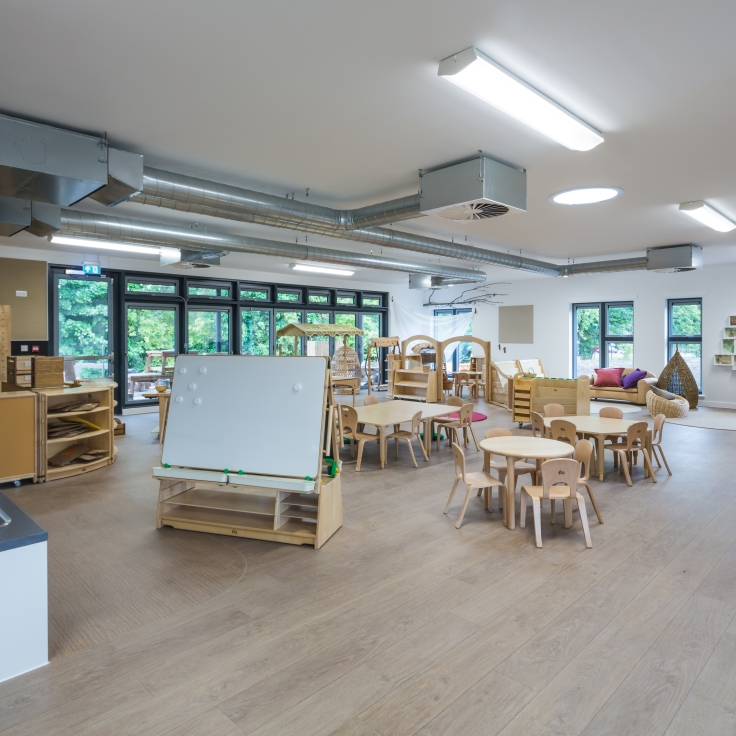 A view of the learning space at Davidson's Mains Primary School Nursery