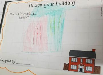 a child's design of a nursery. This is a nursery house.