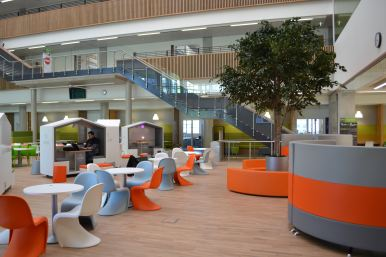 The social space at Boroughmuir High School