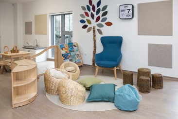 A comfy reading corner at Corstorphine Primary School Nursery