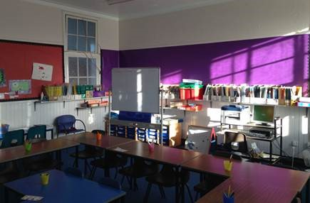 The classroom at Craigentinny Primary School before refurbishment
