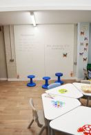 Flexible furniture and whiteboard wall