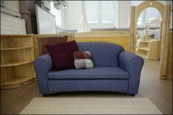 a purple cuddle sofa