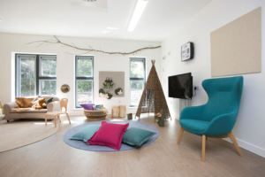 The comfy corner with armchair, nook and cuddle sofa