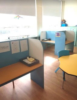 workstations are placed around the classroom