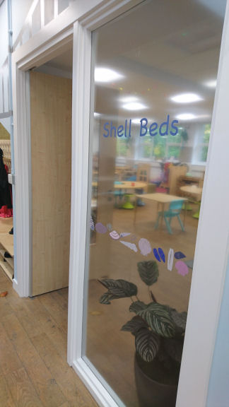 shells on the window of the primary 2/3 classroom