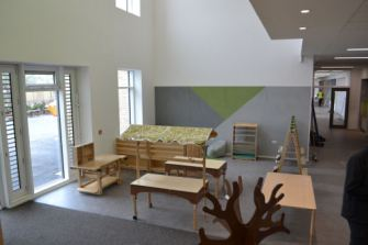 A breakout zone for creative activities between the nursery and primary classes