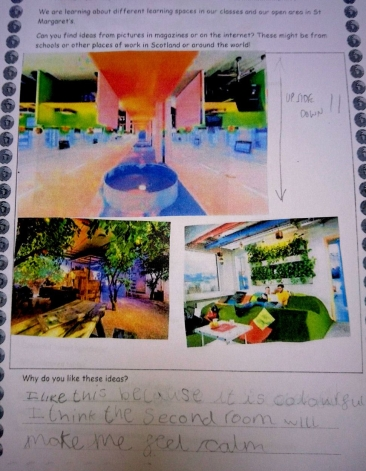 I like this because it is colourful. i think the second room will make me feel calm