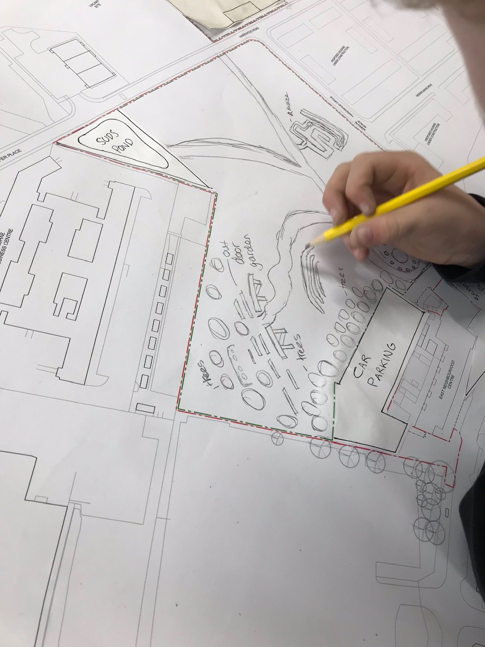 a student designs the playground for the school