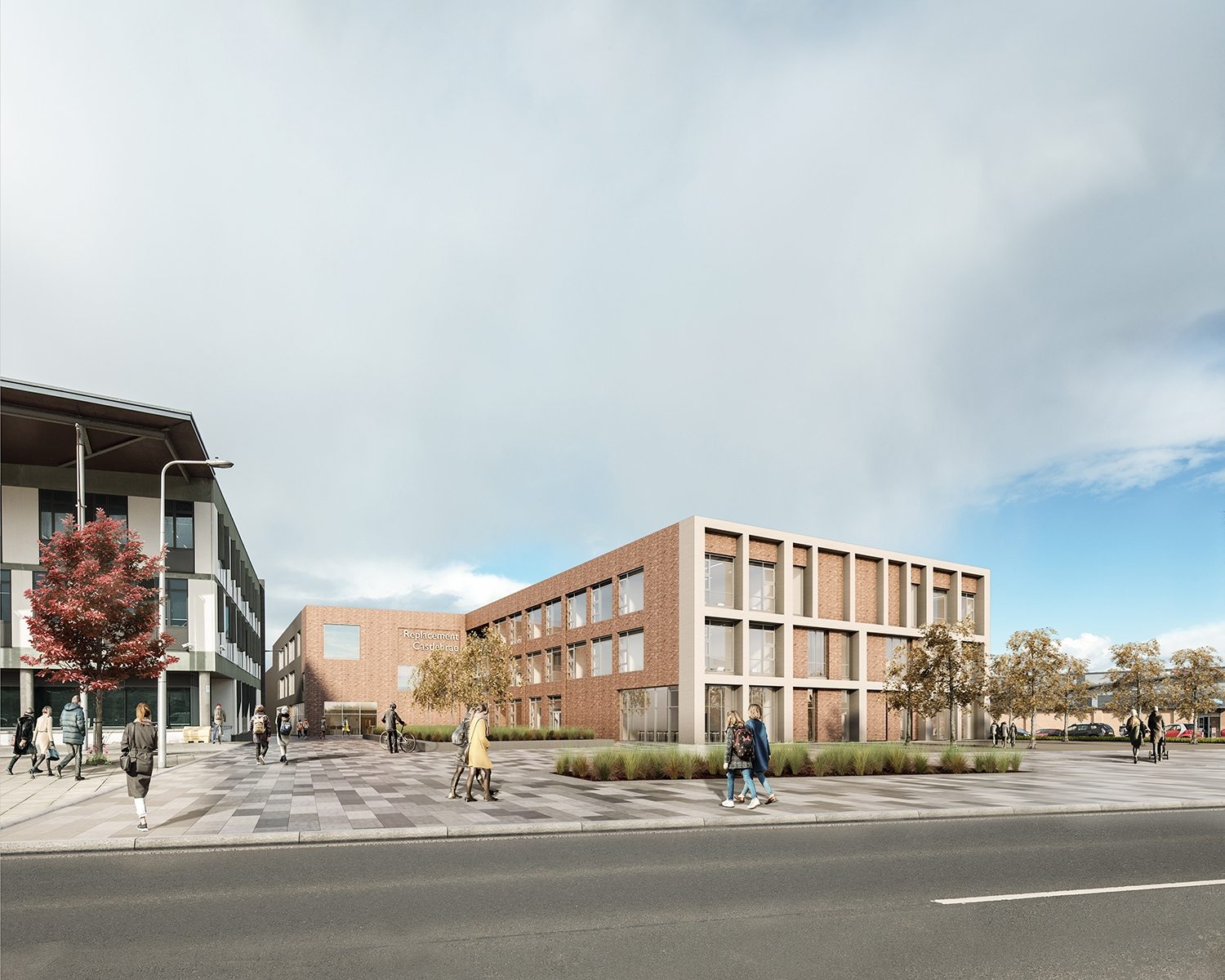 the exterior concept for the new school