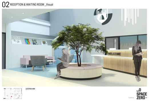 the concept for the reception with seating circling a tree